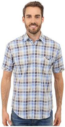 James Campbell Chimala Plaid Short Sleeve Woven Men's Short Sleeve Button Up