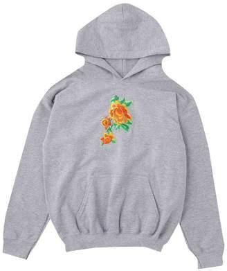 boohoo Boys Orange Rose Embroidered Hoodie