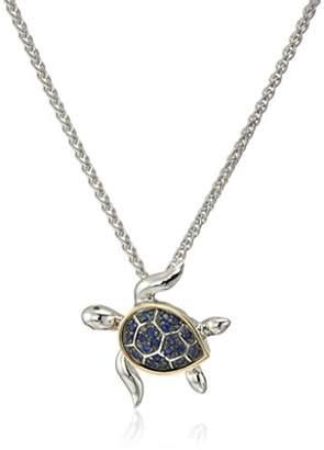 Effy Womens 925 Sterling Silver/14K Yellow Gold Black Diamond