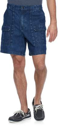 Croft & Barrow Men's Classic-Fit Denim Side-Elastic Cargo Shorts