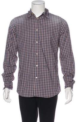 DSQUARED2 Plaid Elbow Patch Shirt