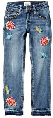 Hudson Embroidered Ankle Cropped Skinny Jeans (Big Girls)