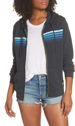 Aviator Nation 5-Stripe Zip Hoodie