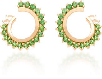 Nouvel Heritage 18K Rose Gold Tsavorite Earrings
