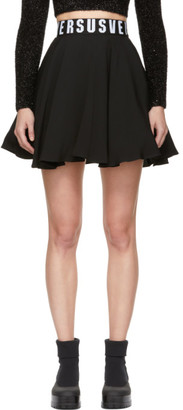 Versus Black Flared Miniskirt