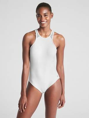 5876412bbe9b8 at Gap · Gap GapFit High-Neck Mesh One-Piece Suit