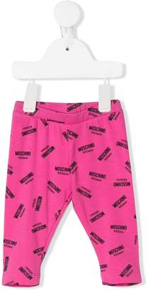 Moschino Kids multi logo print trousers