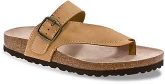 White Mountain Carly Nubuck Flat Sandal - Women's