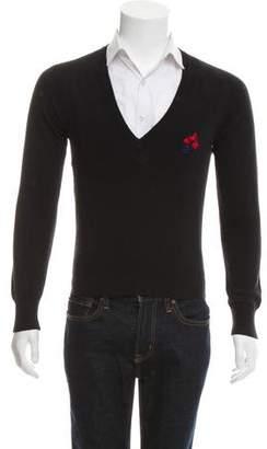 Balenciaga Wool V-Neck Sweater