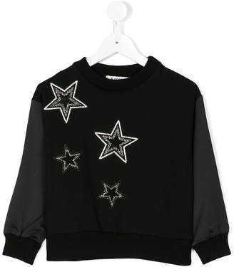 Dondup Kids crystal star sweatshirt