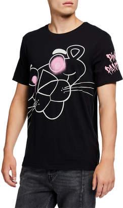 Eleven Paris Men's Big Head Pink Panther Graphic T-Shirt