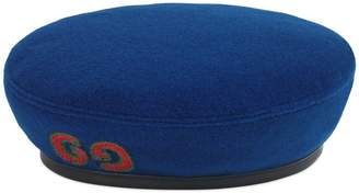 Gucci Wool beret with GG patch