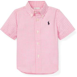 Ralph Lauren Childrenswear Baby Boy's Plaid Cotton Poplin Shirt