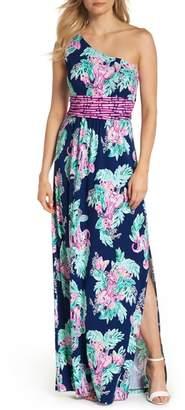 Lilly Pulitzer R) Malia One-Shoulder Maxi Dress