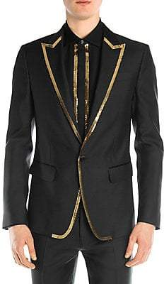 DSQUARED2 Men's Silk& Wool Sequin Blazer