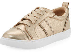 Botkier Harvey Zip-Trim Leather Sneakers