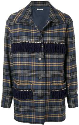 P.A.R.O.S.H. embellished check coat