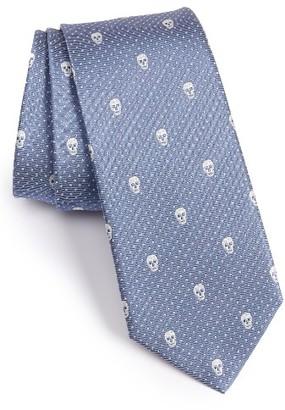 Men's Alexander Mcqueen Skull Silk Tie $165 thestylecure.com