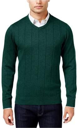 John Ashford Mens Ribbed Trim Long Sleeves Pullover Sweater Green XXL