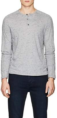 John Varvatos Men's Mélange Cotton Henley