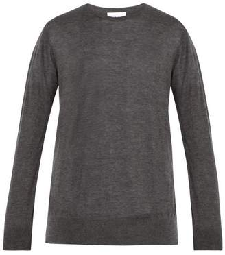 Raey Crew Neck Fine Cashmere Sweater - Mens - Grey