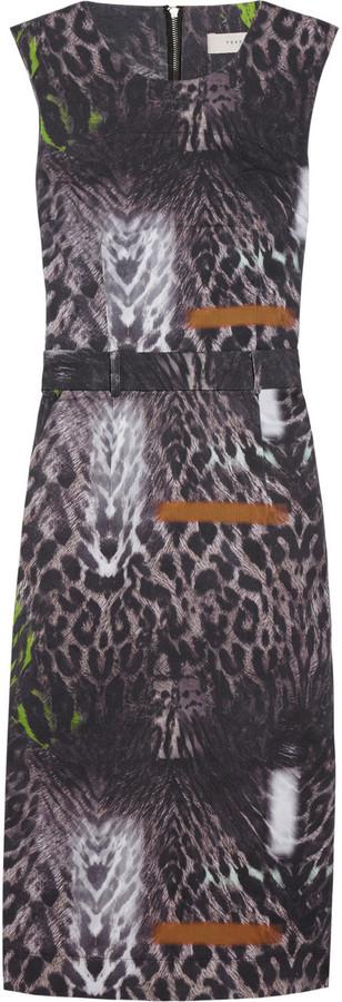 Preen Line Ellen leopard-print stretch-cotton drill dress