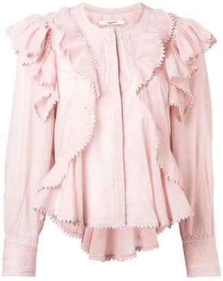 Etoile Isabel Marant frilled blouse