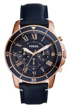 Fossil Chronograph Grant Stainless Steel Bracelet Watch