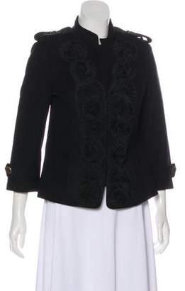 Tibi Virgin Wool Appliqué Coat