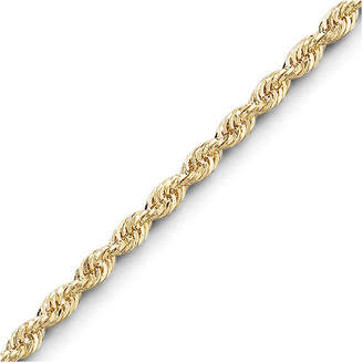 JCPenney FINE JEWELRY 10K Gold 18-22 3mm Rope Chain Necklace