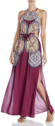 red carter Side Cutout Maxi Dress $175 thestylecure.com