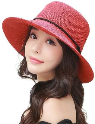 Siggi Womens Floppy Summer Sun Beach Straw Fedoras Hats Accessories Wide Brim Beige