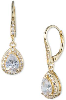 Anne Klein Cubic Zirconia Goldplated Pear Drop Earrings
