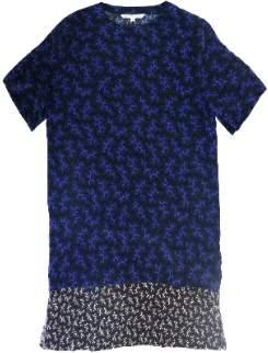 M Blue Maison Martin Morel - Blue Coral Silk Layer Dress - M - Blue