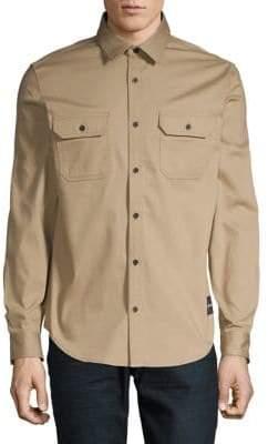 Calvin Klein Jeans Classic Long-Sleeve Button-Down Shirt