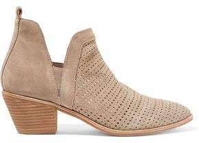 Sigerson Morrison Bonnie Laser-Cut Suede Ankle Boots