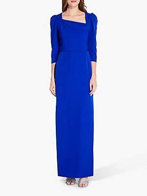 Adrianna Papell Asymmetrical Neckline Gown, Royal Sapphire