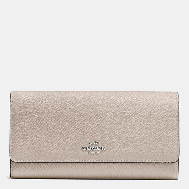 Coach  COACH Coach Trifold Wallet In Crossgrain Leather