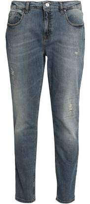 Victoria Beckham Victoria Distressed Mid-Rise Skinny Jeans