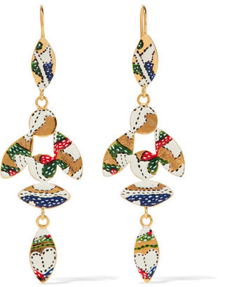 Isabel Marant - Gold-tone Resin Earrings - one size $205 thestylecure.com