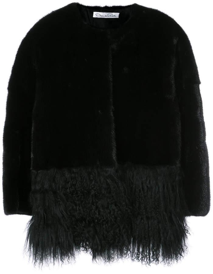 Oscar de la Renta dyed fur jacket
