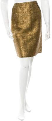 Lanvin Metallic Knee-Length Skirt