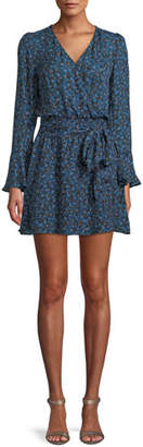 Parker Amanda Floral-Print Silk Tie-Front Dress