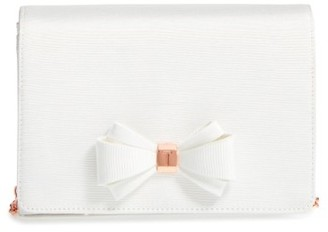 Ted Baker London Bow Clutch - Ivory $109 thestylecure.com