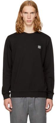 Stone Island Black Small Logo Sweatshirt