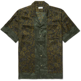 Dries Van Noten Carlton Camp-Collar Printed Satin Shirt