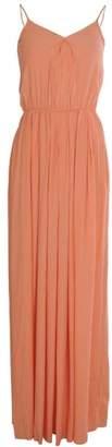 Patrizia Pepe Shoestring Strap Classic Maxi Dress