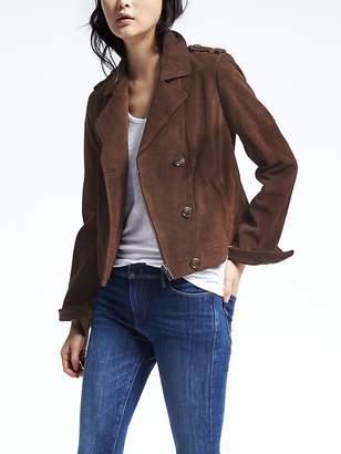 Brown Suede Moto Jacket $448 thestylecure.com