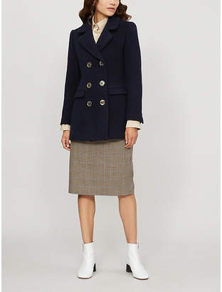 Claudie Pierlot Guimauve double-breasted wool-blend coat