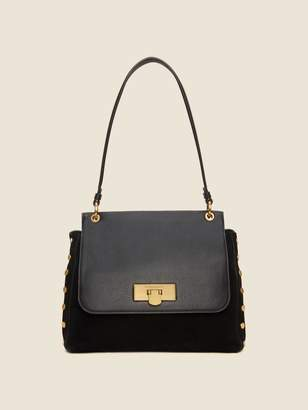 DKNY Baylee Leather Flap Satchel